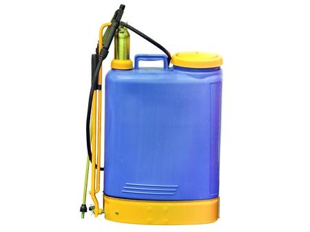 sprayer: The image of a blue sprayer