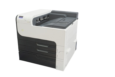cartridge belt: Office copying machine under thew white background
