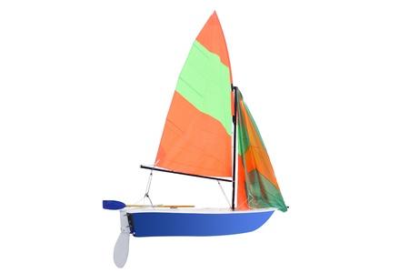 sailboat: sailboat under the white background Stock Photo