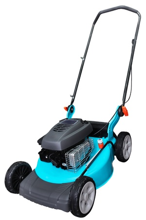 lawn mower: lawn-mower under the white background Stock Photo