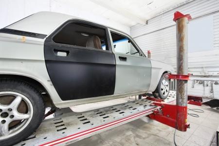 body shop: Image of a repair garage Editorial