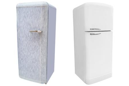 refrigerator under the white background Stock Photo - 18945994