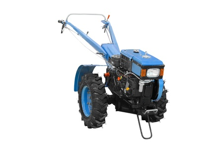 agricultural implements: The image of agricultural equipment under the white background Stock Photo