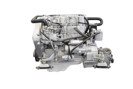 car engine: engine under the white background Stock Photo
