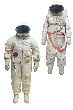 spacesuit: astronaut in a spacesuit under the white background