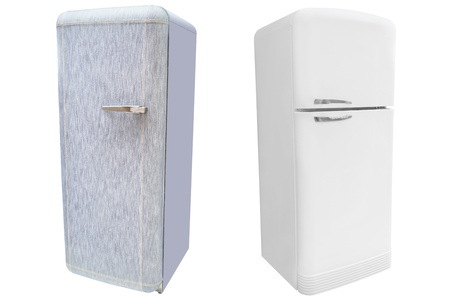 refrigerator under the white background Stock Photo - 19038626