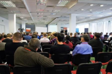 Meeting in einem Konferenzraum Standard-Bild