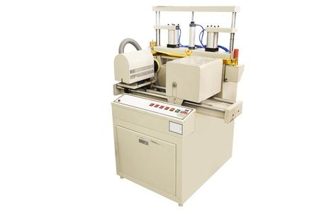 Digital printing machine under the white background photo