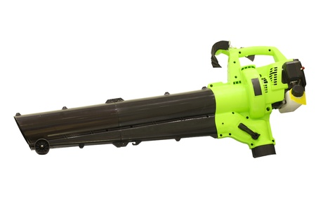 Leaf blower under the white background photo