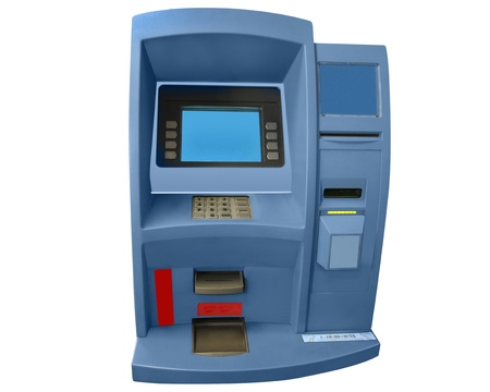 cash machine: cash machine isolated under the white background Stock Photo