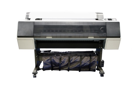 printing machine: Digital printing machine under the white background