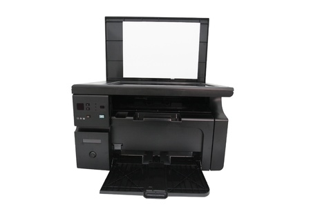 printer under the white background photo