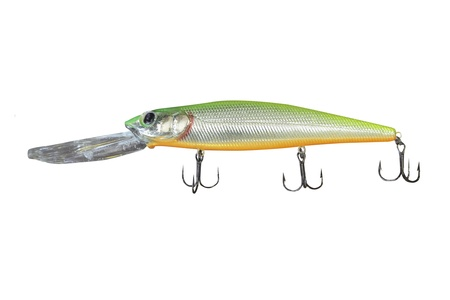 wobler: fishing bait under the white background
