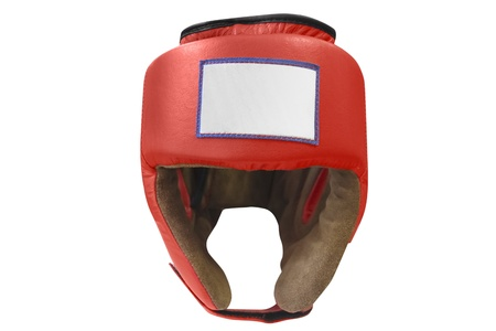 boxing ring: The image of boxing helmet Stock Photo