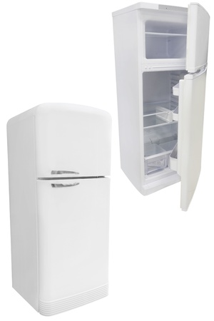 refrigerator under the white background Stock Photo - 19736876