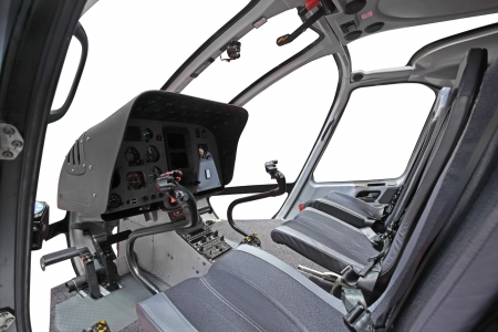 altimeter: The image of helicopter cockpit interior Stock Photo