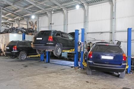 Imagen de un garaje de reparación de automóviles Foto de archivo - 20526901