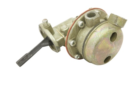 booster: fuel booster pump isolated under the white background Stock Photo