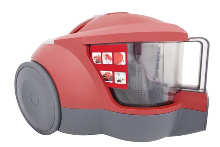 Image of vacuum cleaner under the white background photo