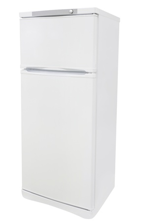 refrigerator under the white background photo