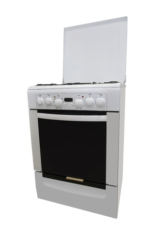 gas-stove under the white background photo