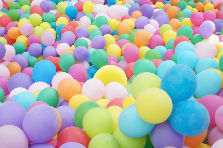 many colored: Background with the image of balloons