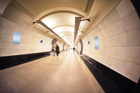 vestibule: interior of a metro vestibule