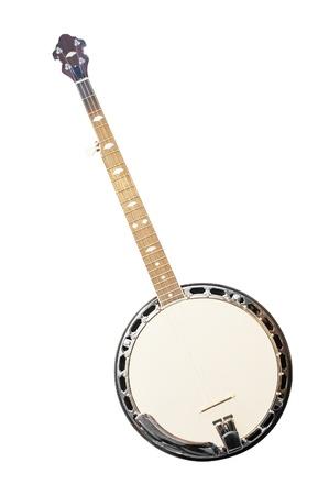 banjo unter dem weißen Hintergrund isoliert