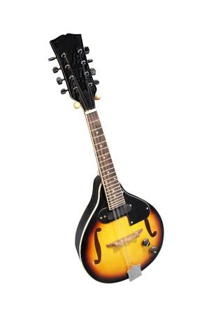 mandolino: mandolino isolato sotto lo sfondo bianco