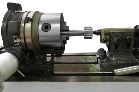 lathe isolated under the white background photo