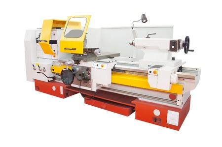 automated tooling: lathe isolated under the white background Stock Photo