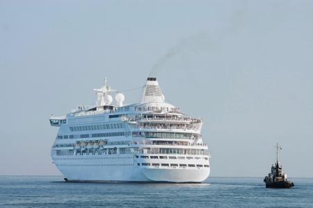 alongside: cruise ship