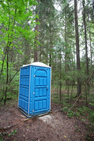 Toilet in the forest photo