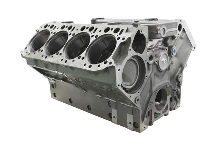 Das Bild der Zylinderblock Lkw-Motor Standard-Bild