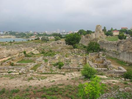 antica grecia: Rovine di Hersones, antico insediamento Grecia Crimea