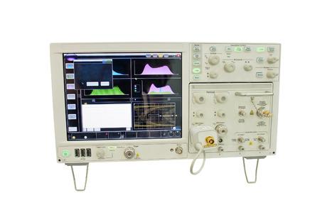 oscilloscope: l'immagine di un oscilloscopio