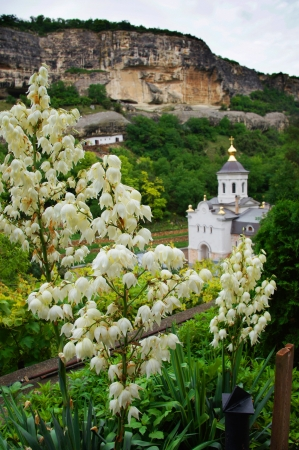 Mountain monastery near Bakhchisaray, Crimea, Ukrain photo