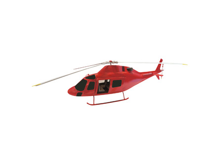 helicopter isolated under the white background photo