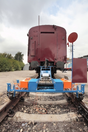 spetial: railway renewal train and measuring  trolley