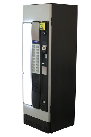 Vending machine isolated under the white background photo