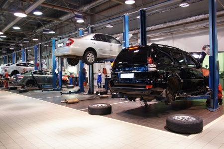 Image of a repair garage Editorial