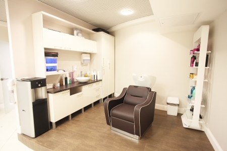 Interior of a beauty parlour