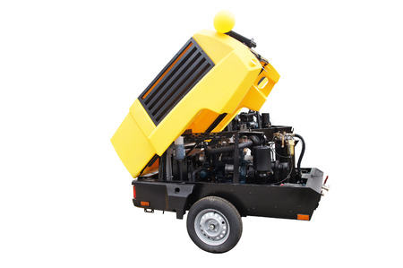 movable: The image of a movable compressor under the white background
