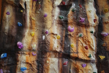 the image of an Artificial climbing wall indoor photo
