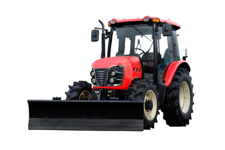 wheeled tractor: tractor under the white background Stock Photo