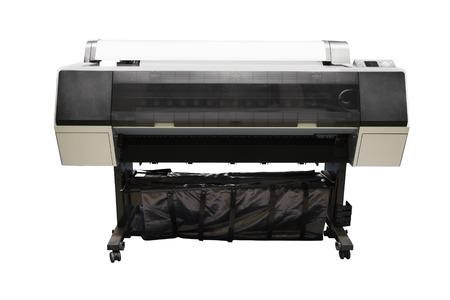 tehnology: Digital printing machine under the white background
