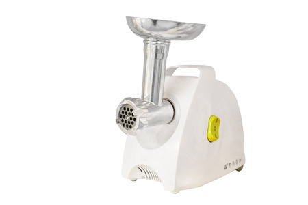 electric meat grinder under the white background photo