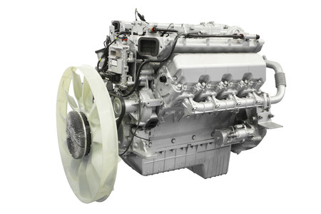 horsepower: The image of an engine under the white background