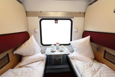 berth: Interior of a coupe in a passenger train car