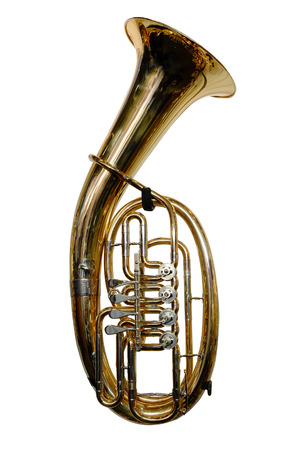 tuba isolated under the white background photo
